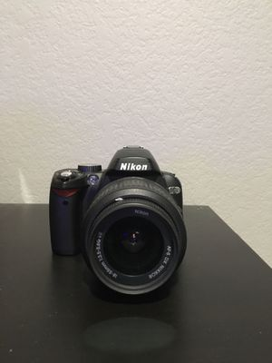 Nikon D60 DSLR Camera with 18-55mm f/3.5-5.6G Auto Focus-S Nikkor Zoom Lens for Sale in Roseville, CA