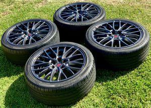 "2015 2016 2017 Subaru WRX STI 18"" OEM Wheels and tires 5x114 stock factory Enkei rims 245/40/18 for Sale in Long Beach, CA"