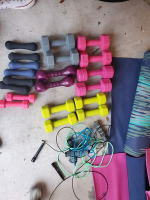 Yoga mats+weights for Sale in Dade City, FL