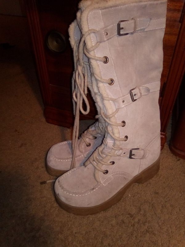 Winter Norfolk Raport sz 8 Boots Mid Calf leather like new good traction