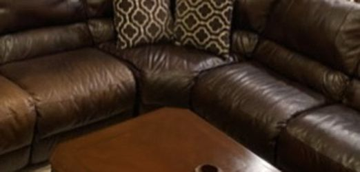 Italian leather sectional with electrical recliners! $800 OBO! for Sale in Katy,  TX