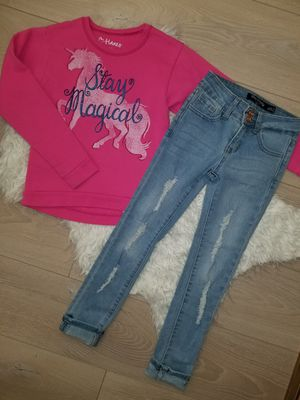 Set Jean's and hoodie for girls size 7Y, $12 for Sale in North Highlands, CA