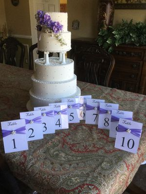 Wedding Table Number Holder for Sale in Herndon, VA
