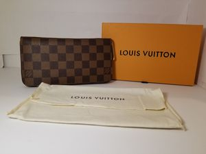 Louis Vuitton Brown Ebene Pink Wallet for Sale in Queens, NY