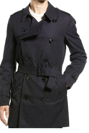 BURBERRY Men's KENSINGTON MID Black HERITAGE Trench Coat Jacket Size 50 for Sale in Bristow, VA