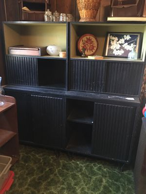 Vintage black cabinet units (four pieces) for Sale in Doswell, VA
