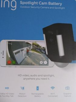 Ring Spotlight cam Battery Outdoor Security Camera for Sale in Salem,  OR