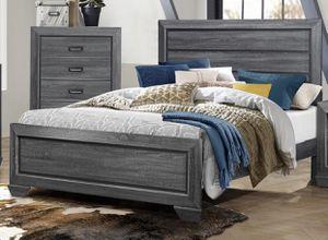 Queen Gray Wood Bedroom Set for Sale in Reno, NV
