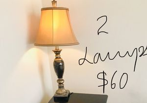 TV; HP printer (scanner/copier/fax/wireless); computer chair, antique lamps with shade , floor lamp, five for Sale in Cary, NC