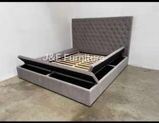 Queen Size Bed Frame with Storage for Sale in Cerritos,  CA