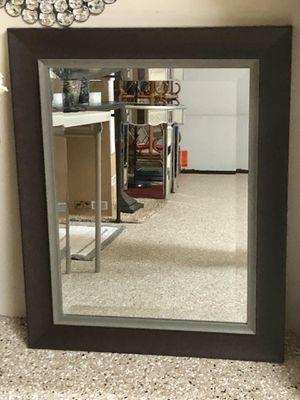 Espresso and Silver Wall Mirror for Sale in Mokena, IL