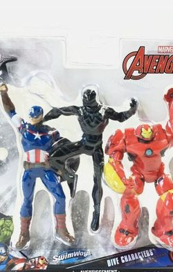 Swimways Dive Characters Marvel Avengers Iron Man Captain America Black Panther for Sale in Compton,  CA