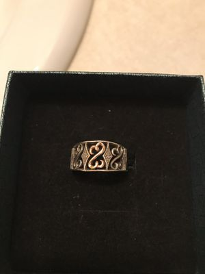Sterling Silver & 10K Rose Gold Jane Seymour Open Hearts Diamond Ring for Sale in Bettendorf, IA