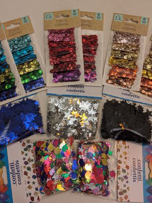 Unused, various confetti and sequins for Sale in Richmond, CA