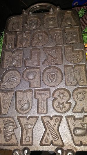 Cast iron letter mold baking pan for Sale in El Paso, TX