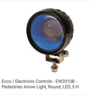 Ecco 2010B pedestrian spotlight with mounting brackets. Blue for Sale in Wichita, KS