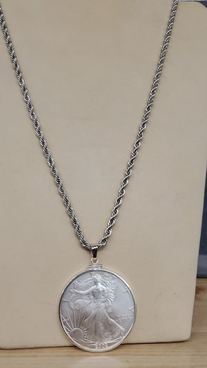 Silver Eagle necklace 24inch for Sale in Mayfield Heights, OH