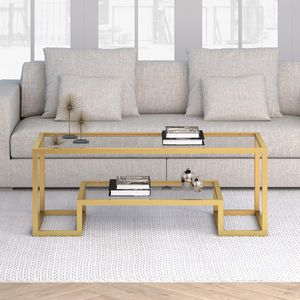 Athena 17 in. Gold Coffee Table for Sale in Houston, TX