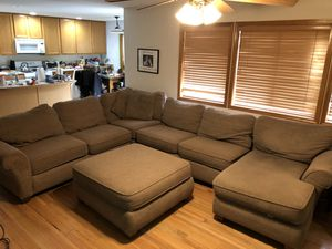 Sectional Couch with Ottoman for Sale in Bonney Lake, WA