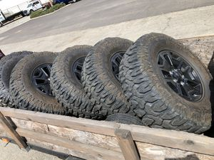"Jeep willys wheels on 315/70-17 (35"" tall) Molestar Patagonia M/T's for Sale in Pasadena, CA"