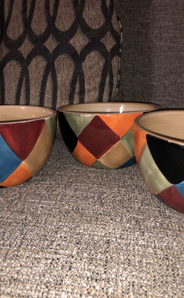 Stone wear 3 Piece Cereal Bowls. Please see all the pictures and read the description