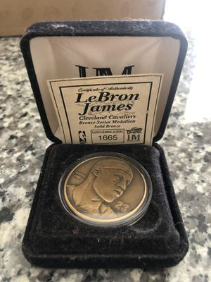 Lebron James bronze medallion , certificate of authenticity 1665/5000 for Sale in Spring, TX