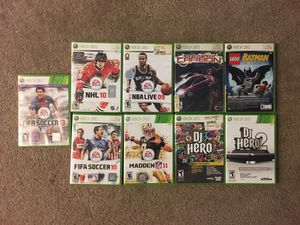 XBOX 360 GAMES for Sale in Gaithersburg, MD