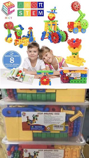 Brand new 121pcs kids toy stem building blocks learning toy puzzle like lego toy set age 5+ for Sale in El Monte, CA