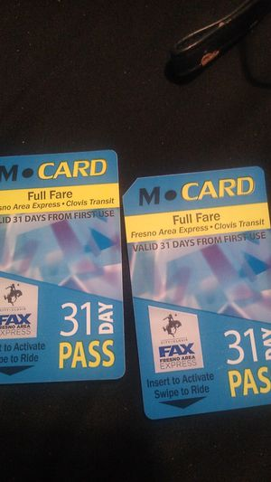 Bus Passes for Sale in Fresno, CA