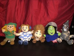 MGM Grand Las Vegas Wizard of Oz 1990's plush doll collection very rare! Dorothy, Tin Man, Lion, Scarecrow and witch! Lot set collectors toys! Vegas for Sale in Phoenix, AZ
