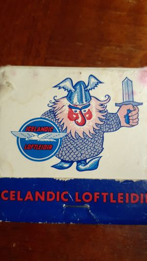 Icelandic Loftleidir airline matchbook for Sale in Akron, OH