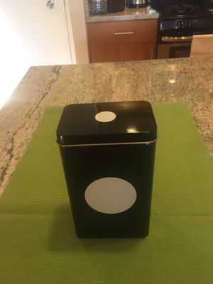 Cute metal container - perfect storage (black and white) for Sale in Arlington, VA