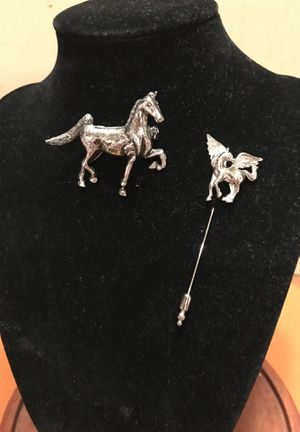 Two Silver Horse pins for Sale in Gainesville, VA