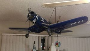 Used, Great Planes F4U Corsair.40 model fully assembled for Sale for sale  Jackson, NJ
