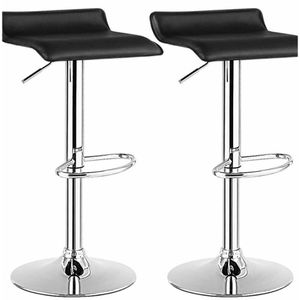 Like New Bar Stools Black Leather for Sale in Miami, FL