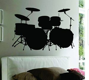 Drum Set Wall Decal Sticker for Sale in Corona, CA