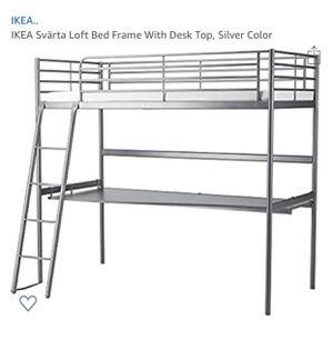 IKEA loft bed with desk for Sale in St. Petersburg, FL