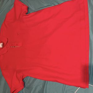 Red Burberry shirt size large! for Sale in Philadelphia, PA