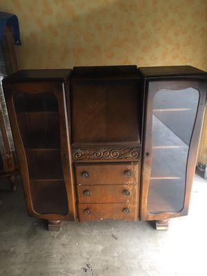 Priced to sell— Mid century secretary cabinet—needs a little work—original hardware—amazing project for someone that is handy—do not have keys for do for Sale in Los Angeles, CA