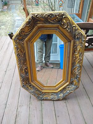 Wood Framed Wall Mirror for Sale in Germantown, MD