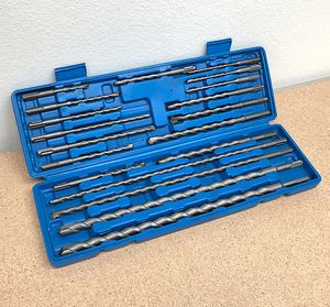 New $30 Tool Set 20pcs SDS Plus Rotary Hammer Drill Bits Concrete Masonry Hole Universal for Sale in South El Monte, CA