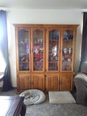 Solid Oak China Hutch for Sale in Oronogo, MO