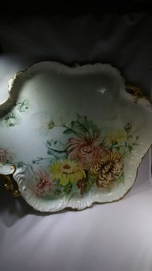 Antique china platter France 1896 stamped signed marked for Sale in Fort Lauderdale, FL