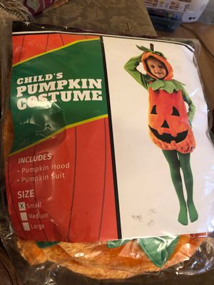 Child's pumpkin costume for Sale in Salt Lake City, UT