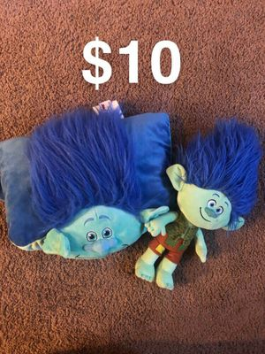 Trolls pillow pet and plushie for Sale in Pleasanton, CA
