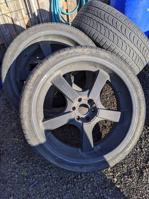 """24"""" x 10"""" powder coated aluminum wheels 6 on 5.5 for Sale in Molalla, OR"""