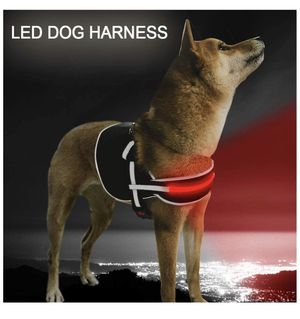 Brand new! LED Dog Harness No Pull Reflective Rechargeable 4 Colors for Medium Large Dogs Let Your Dog Visible for Sale in Miami, FL