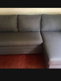 Sleeper Sectional Sofa With Storage- Two Weeks Old for Sale in San Diego,  CA