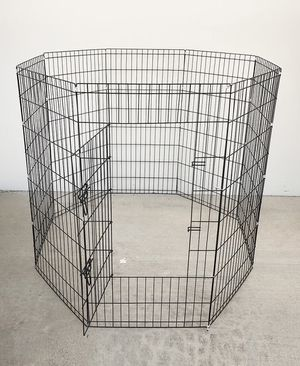 "$50 NEW Foldable 48"" Tall x 24"" Wide x 8-Panel Pet Playpen Dog Crate Metal Fence Exercise Cage for Sale in Whittier, CA"