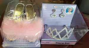 DISNEY PRINCESS DRESS CINDERELLA W/TIARA, EARRINGS, SLIPPERS *NEW for Sale in Phoenix, AZ